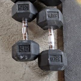 USED - HEX DUMBBELL 35#