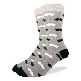 Moustache - Crew Socks pair