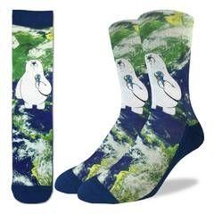 Polar Bear Global Warming  - Crew Socks pair
