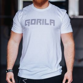 Gorila men's BOLD tee - White