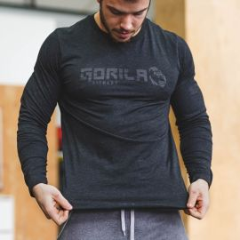 Gorila Longsleeve - Black on Black