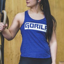 Gorila Women's Tank top - Navy & White