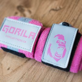 Gorila Wrist Wraps - Pink & Grey - Pair