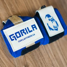 Gorila Wrist Wraps - Navy & Tan - Pair