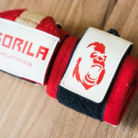 Gorila Wrist Wraps - Red & Tan - Pair
