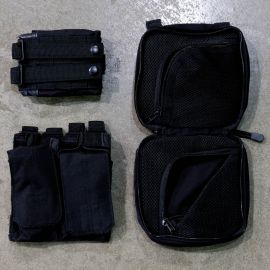 Gorila Plate Carrier Pouch Combo-Black