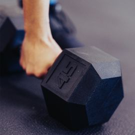 RUBBER HEX DUMBBELLS - LB