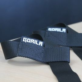 Gorila Nylon Lifting Straps - Pair - BLACK