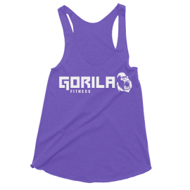 GORILA FITNESS WOMEN'S TANK - PURPLE HEATHER