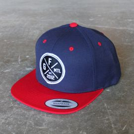 Gorila Snapback Patch hat - Navy/Red