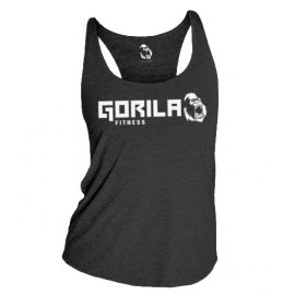 GORILA FITNESS WOMEN'S TANK - BLACK HEATHER