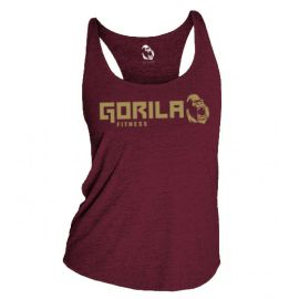 GORILA FITNESS WOMEN'S TANK - BURGUNDY HEATHER
