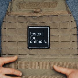 GORILA TESTED FOR ANIMALS PATCH