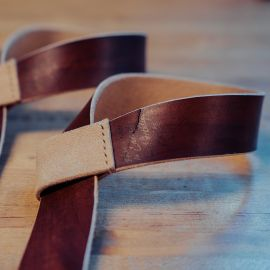 GORILA STANDARD LEATHER LIFTING STRAPS - BROWN - PAIR