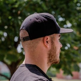 Gorila embroidered snapback - Black