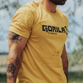 GORILA MEN'S ORIGINAL T-SHIRT - MUSTARD