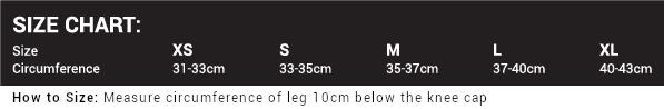 Rehband Knee Sleeves Size Chart | Gorila Fitness Canada